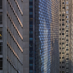53rd Street (josullivan.59) Tags: nyc blue light shadow urban panorama usa newyork abstract detail reflection tower texture geometric architecture buildings office day pattern skyscrapers unitedstates manhattan january midtown artisitic 2016 3exp canon6d tamron150600