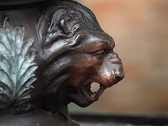 A Whim Away (foggyray90) Tags: statue bronze lion cast acanthus snarling snarl lionking