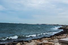 Litorale. (Alessandro Photo - ALPH) Tags: sea italy beach faro italia mare burrasca puglia spiaggia bari forte vento scogli maestrale schiuma litorale bagnasciuga palese