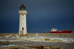 Ship Ahoy (another_scotsman) Tags: lighthouse seascape ship stormy mersey greatphotographers perchrock greaterphotographers