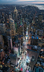 Elongated Times Square (DSC01752-Edit) (Michael.Lee.Pics.NYC) Tags: newyork night twilight cityscape sony aerial helicopter timessquare lowermanhattan midtownmanhattan flynyon zeissbatis25mmf2 a7rm2