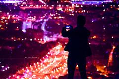 The Tourist. (arturii!) Tags: barcelona city trip travel people urban man guy beauty silhouette night wow lights amazing nice interesting holidays europe tour bright superb bokeh awesome hill great bcn catalonia traveller route smartphone midnight carmel stunning viatge viewpoint vacations impressive gettyimages takingpictures ciutat bunkers traveldestination arturii touristsattractions arturdebattk turodelarovira millennialgeneration canonoes6d