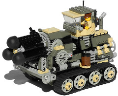 Hog Heavy Diesel Artillery Mk. XXV (mobile position) (aillery) Tags: up wheel self spring gun carriage control lego diesel wind military ground mortar weapon cannon vehicle artillery motor arrow shooter revolver hog rotating dart carrier spigot motorized propelled revolving tracked howitzer gatling nonelectric dieselpunk terradyne crayven