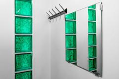 Change Room (ToDoe) Tags: green changeroom changingroom glassblocks coathook umkleidekabine kleiderhaken glasbausteine umkleide kabine aquamarin