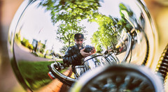 Firuze Effect. (ehanoglu) Tags: life reflection love honda turkey cool trkiye scooter istanbul fisheye reflect joker asya nostalji firuze hondajoker asyanostalji