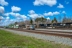 NS 9125, 2501, 9575 on 22K, meeting 9275, 8379 on 205, Berea, 2016-04-12 (redheadedrobbie1) Tags: railroad diesel ns locomotive ge meet railfan freight dash8 generalelectric norfolksouthern berea emd dash944cw dash9 sd70 electromotivedivision dash840cw d840cw d944cw