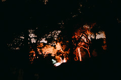 Chasing shadows (Alex Karamanov) Tags: travel trees sea sky people man mountains color nature silhouette night clouds stars landscape fire lights mood nightscape outdoor surreal atmosphere bonfire citylights nightsky crimea vsco