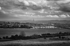 Salisbury (Crisp-13) Tags: camp white black monochrome field landscape site cathedral rugby spire salisbury hudson