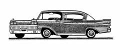 1959 Mercury Park Lane (Don Moyer) Tags: auto moleskine car ink notebook automobile mercury drawing brushpen