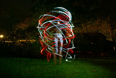 Ascension (earthxphotography) Tags: longexposure light red white lightpainting sony poi olympia pacificnorthwest pnw abduction ascension ascend ascending
