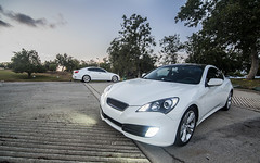 _DSC3170 (CheezyCheeto) Tags: white lake cars car wheel docks sedan boat is dock pond parking low wheels drop structure turbo cal launch pomona rim rims genesis hyundai poly coupe lowered dropped puddingstone imports lexus cpp launching is350 20t is250 purist purists importscpp