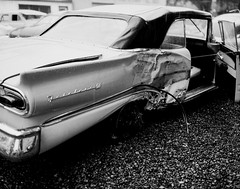 Des Moines Register Collection0080.jpg (The Digital Shoebox) Tags: original blackandwhite car vintage found ebay kodak accident memories iowa retro wreck desmoines madeinusa fordfairlane sheetfilm desmoinesregister epsonv700