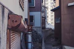 Shuttered (iamguy) Tags: japan alley shade shutters niigata damaged yuzawa