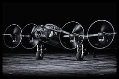 Avro Lancaster BVII - 78 (mod) (NickJ 1972) Tags: heritage kirby aviation events centre lincolnshire east nightshoot lancaster timeline leh b7 vii avro 2015 justjane bvii dxf nx611 lahc gasxx