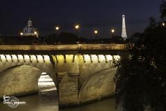 Power of light (Lonely Soul Design) Tags: city bridge light sunset urban paris tower night long exposure cityscape view arts eiffel des pont