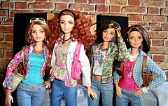 Tag Game - Dolls in Denim (Dia 777) Tags: sisters dolls barbie collection teresa tall dollcollection barbiefashionistas dia777 barbiestyleglamnight denimndots madetomovebarbie terrificteal