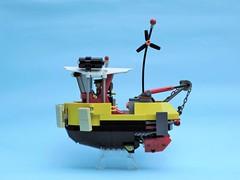 Tugboat 04 (JPascal) Tags: boat flying lego tugboat