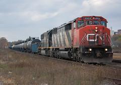 SD50AF Leader...Yep I'll Take It (Joseph Bishop) Tags: railroad ontario cn train track tracks rail railway trains rails railfan brantford 5503 emd sd50af cndundassubdivision