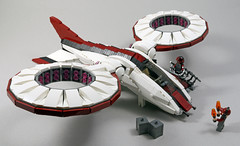H8 Hummingbird Hovercopter (MaverickDengo) Tags: infantry robot ship lego space military helicopter walker futuristic speeder mech hovercraft drone defenses starfighter