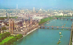 Westminster (Leonard Bentley) Tags: uk london westminster aerialview 1966 1975 riverthames metropolitan centrepoint westminsterbridge hungerfordbridge 1965 victoriaembankment palaceofwestminster gpotower tattershallcastle victoriatowergardens canonrow cannonrow