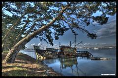 The Fishing Boat (Fisheye Creation) Tags: color landscape boat nikon brittany bretagne bateau hdr lorient bracketing
