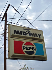 The Mid-Way, Warren, OH (Robby Virus) Tags: ohio sign bar club pub cola alcohol tavern booze warren pepsi midway