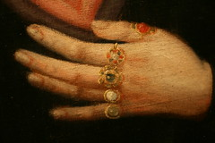 ring details on Gertrude the Great (wmpe2000) Tags: pink white black peru gold heart habit exhibit nun unknown artmuseum spanishcolonial 2016 phoenixartmuseum spanishcolonialart early1700s saintgertrudethegreat masterworksofspanishcolonialartfromphoenixartmuseumscollection