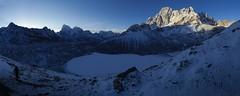 Dawn over Gokyo Lake (D A Scott) Tags: nepal lake mountains sunrise dawn frozen himalayas gokyo