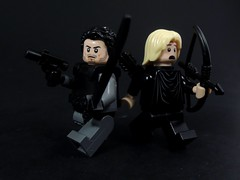 Slade and Oliver (MrKjito) Tags: new 2 green comics hair season island dc comic lego cw wilson arrow minifig custom slade mercenary deathstroke lianyu