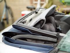 Fiat Punto cabriolet roof opened (marcogariboldi) Tags: auto car punto automobile fiat convertible cabrio yashica cabriolet yashinon tomioka 1255