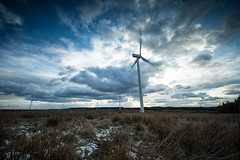 Windfarm (maxbryan92) Tags: blue sky west landscape scotland movement nikon energy power wind little scottish lee windfarm renewable lothian stopper d4