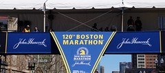 Finish Line at The Boston Marathon (Harry Lipson III) Tags: sports sign boston race athletics marathon running racing signage runners signboard roadrace 262 bostonmarathon roadracing bostonmarathonfinishline raciung 2016bostonmarathon