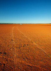 Dried Lake 2 (caralan393) Tags: red lake lines tracks dry ute outback cracks 13s