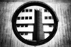 black hole (AOP fotografia) Tags: street black building monochrome architecture composition dark mono hole perspective streetphotography surreal round fujifilm architettura bianconero dentro prospettiva composizione obl contrasto struttura xt1