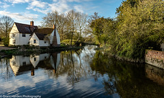 Flatford Mill, Suffolk, UK (granth2903) Tags: uk morning trees sky water clouds sunrise reflections landscape suffolk still calm tranquil waterscape flatfordmill canon1740l wwwgranthardenphotographycom sonya7ii