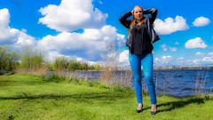 Kim Lobbezoo 15 (M van Oosterhout) Tags: portrait people woman sun lake holland cute netherlands girl beautiful face fashion female clouds model pretty photoshoot modeling stunning editorial