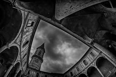 "Chiostro di San Pietro (Carlo ""Granchius"" Bonini) Tags: perugia biancoenero basilicadisanpietro nikond300 universitdeglistudidiperugia samyang8mm dipartimentodiscienzeagrarie"
