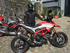 The first steps (Lusty-Daisy) Tags: motorcycle ducati rider hypermotard ducatihypermotard939sp 939sp