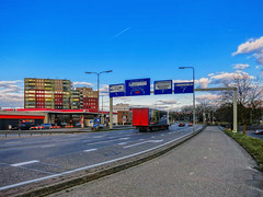 roermond Wihelminasingel IMG_4501 (seyjo) Tags: panorama church river motorway places location maas hdr roermond urbanscape historiccity rur dutchcity steenenbrug seyjo