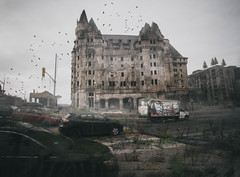 Mist (unDaily Power) Tags: ontario canada abandoned overgrown photomanipulation photoshop decay urbandecay ottawa neglected olympus ghosttown overgrowth omd chateaulaurier ghostcity fairmontchateaulaurier theworldwithoutus abandonedottawa omdem5