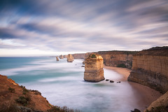 Apostles (benjeev) Tags: seascape clouds moving long exposure dramatic australia melbourne victoria cliffs greatoceanroad twelve apostles stacks