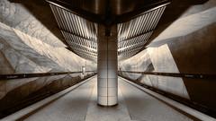 Grohadern (susan pau) Tags: sepia underground subway munich mnchen