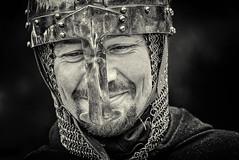 An was schnes denken oder mit Spa dabei sein (ellen-ow) Tags: man streets outdoor mann oberhausen helm historisch verkleidet mittelaltermarkt burgvondern ritterspektakel nikond700 ellenow