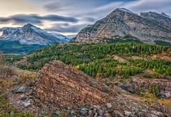 Colorful Geology (Philip Kuntz) Tags: sunrise dawn montana rocks geology glaciernationalpark daybreak manyglacier