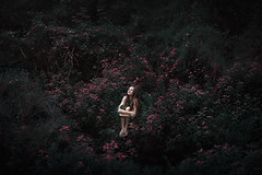 (AdiDekel) Tags: pink light green nature girl