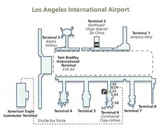 Continental LAX diagram, December 2001 (airbus777) Tags: 2001 airport map terminal diagram co lax continentalairlines losangelesinternational