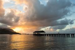 Something to Remember You By (Tim Gupta) Tags: ocean sunset hawaii pier kauai hanaleibay