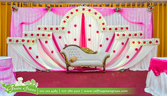 Decorated Grand Green Palace Hall for a Registration at Green Grass Hotel Jaffna (greengrassjaffna) Tags: long chair wedding stage mandapam lovely setup decoration table light effect