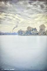 Frozen (Romulus Anghel) Tags: city blue winter light urban snow cold water colors beautiful beauty weather clouds buildings day cityscape lg freeze romania bucharest bucuresti nori
