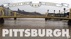 "City Stickers ""Pittsburgh"" (Question Josh? - SB/DSK) Tags: streetart pittsburgh stickers youtube"